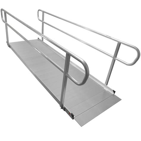 Wheelchair R Handrail Height 10 aluminum wheelchair entry r handrails surface scooter mobility access
