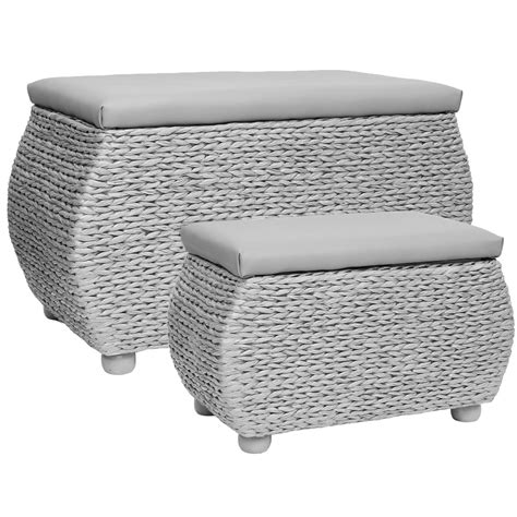 wicker bench seat hartleys twin storage trunk stool bedding blanket rattan wicker box bench seat ebay