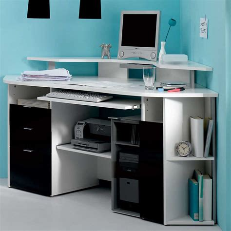 black corner computer desk office furniture