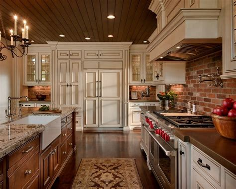 kitchen looks ideas brick backsplash idea makes your kitchen looks beautiful
