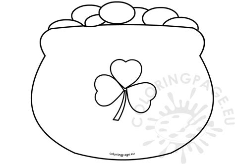 pot of gold coloring page st s day coloring page pot of gold outline