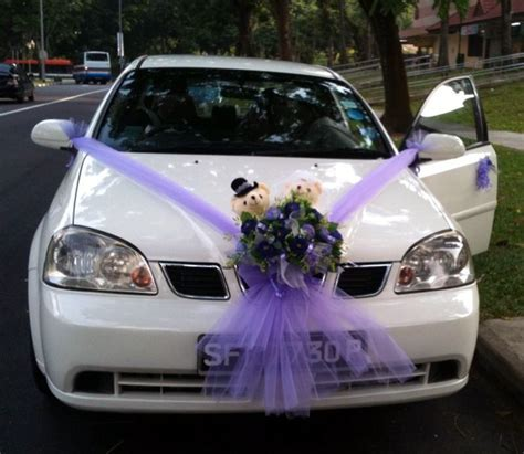 wedding car decorations   Purple Artificial Flowers