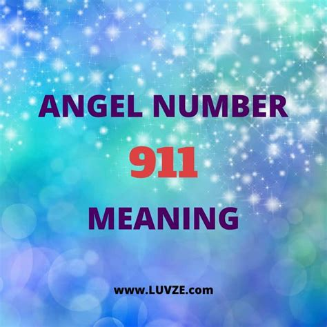 Guardian Number 911 Number 911 Meaning Number Readings