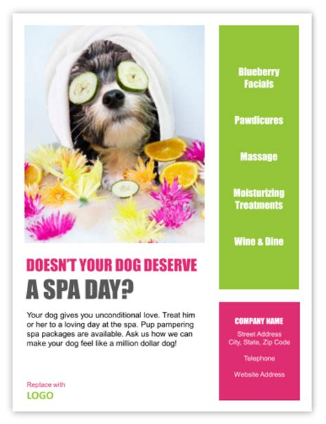 grooming flyers template groomer flyers groomer flyer templates