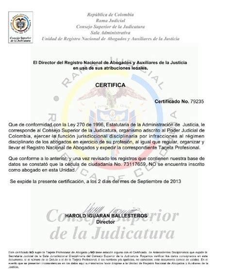 certificado consejo superior de la judicatura certificado de consejo superior de la judicatura revista