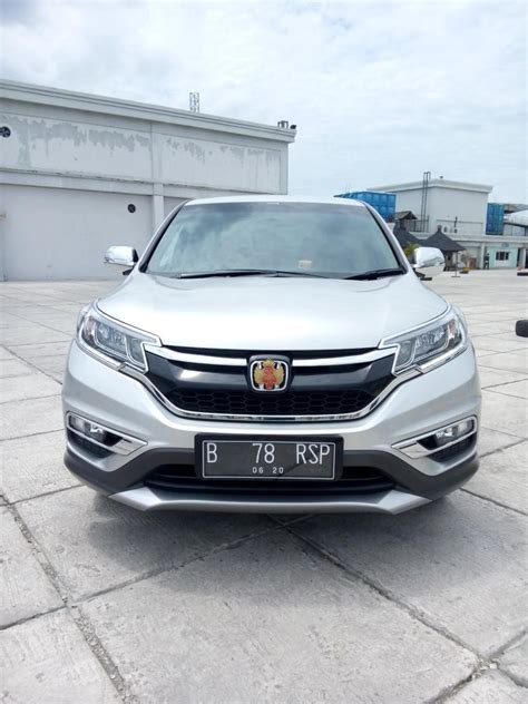 Honda Crv 2 4 2015 cr v honda crv 2 4 matic 2015 silver km 5rban