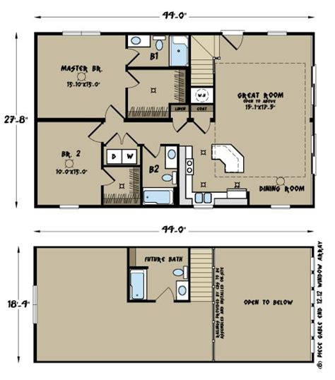 north carolina modular home floor plans sierra ii cape chalet crafts pinterest chalets