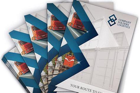 corporate folder design template psd blue logistics