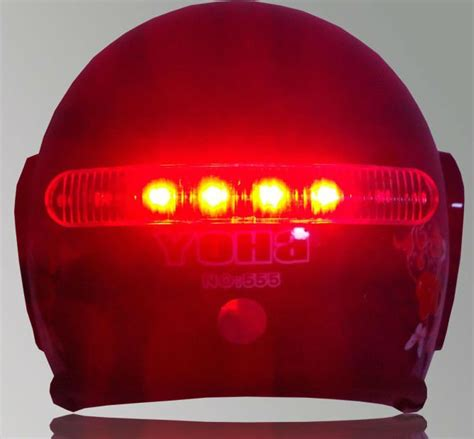motorcycle helmet light kit led wireless motorcycle helmet brake turn signal light