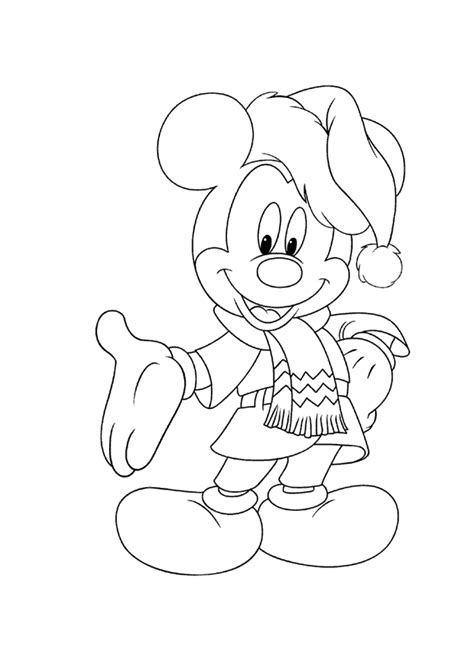 christmas mickey mouse coloring pages to print mickey mouse christmas coloring pages free print