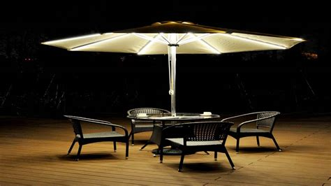 cantilever patio umbrella with led lights strong camel 9 cantilever solar 40 led light patio
