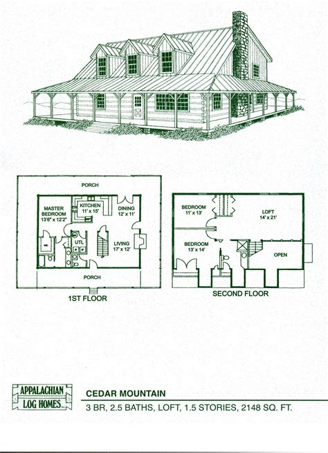 cabin floorplan log home floor plans cabin kits appalachian homes also 1