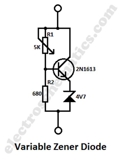 zener diode with no load the of zener regulation