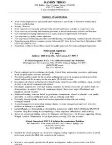Avionics Manager Sle Resume by Trigo Resume Aviation General Resume