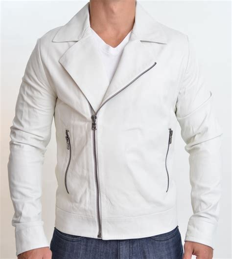 white leather handmade white leather jacket leather jackets biker