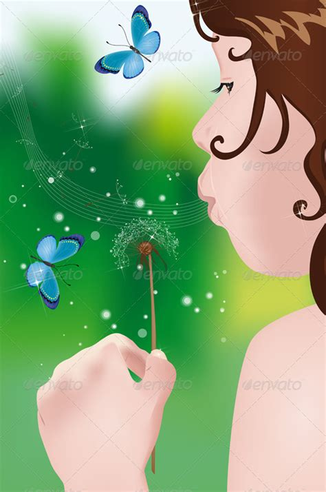 blowing dandelions letters for santa girl blowing on dandelion by crazycolors graphicriver