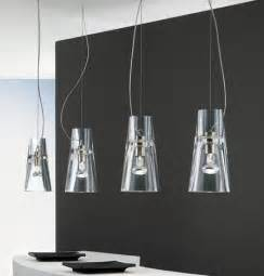Modern Pendant Lighting Kitchen Contemporary Clear Glass Pendants From Leucos The Kon Suspension Lights