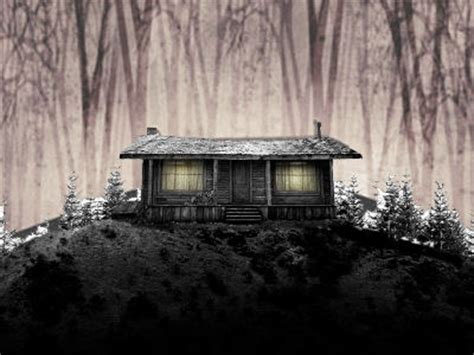 Creepy Cabin In The Woods by Log Cabin Scary Website
