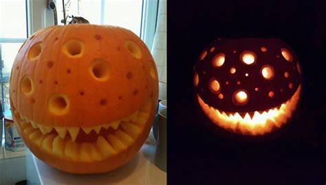 cool creative scary halloween pumpkin carving