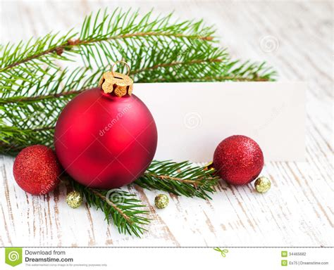 christmas card with decorations stock photography image