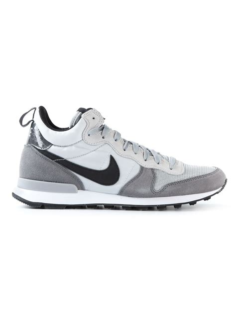 nike internationalist sneaker lyst nike internationalist mid sneakers in gray for