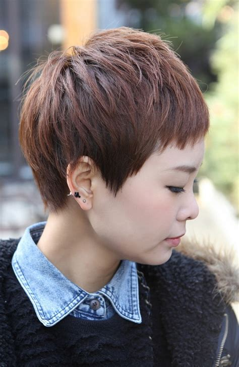 side views of short layered haircuts side view of short layered boyish haircut for women