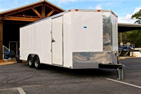 boat storage ta bay 8 50x20 tandem axle enclosed trailer by diamond cargo