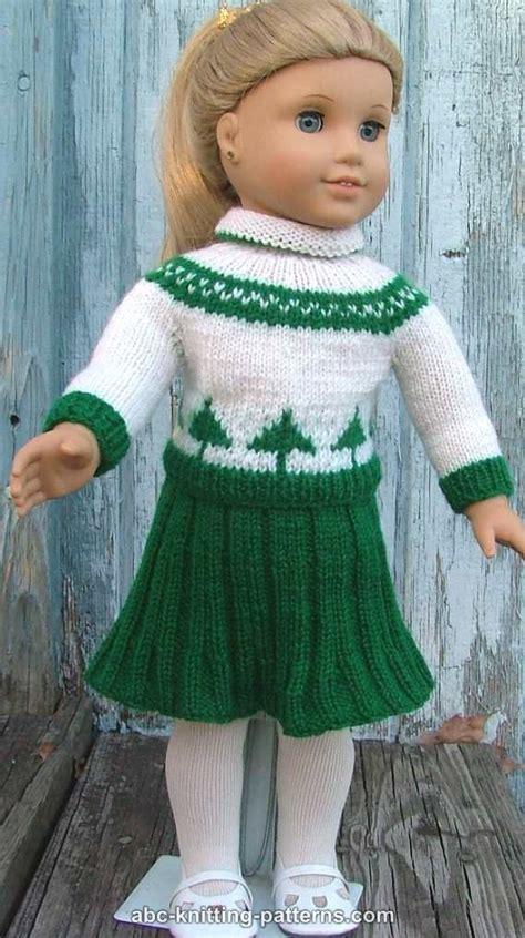knit sweater skirt pattern abc knitting patterns american girl doll colorwork