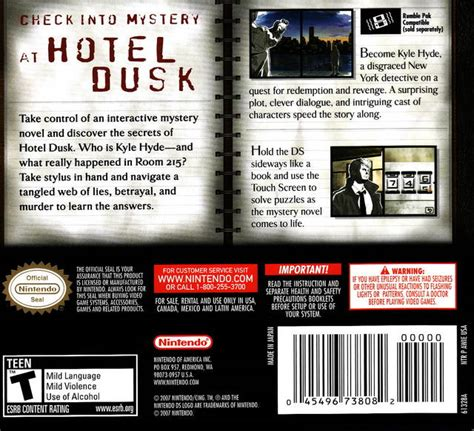 room ds hotel dusk room 215 box for ds gamefaqs