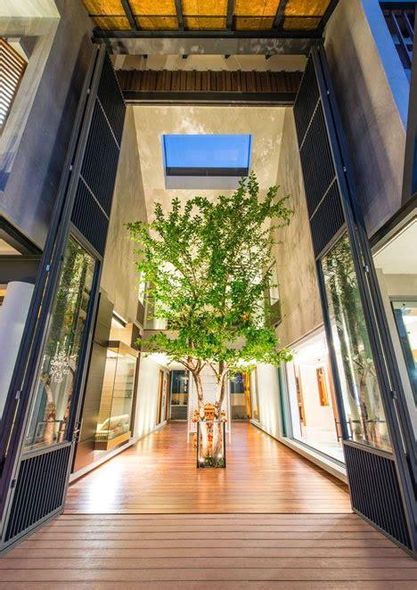 desain interior rumah pohon ide rumah dengan pohon didalam courtyardnya arsitektur