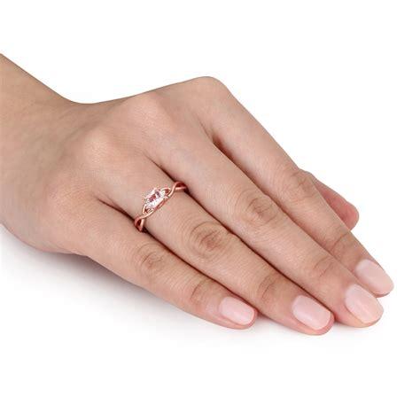 1 2 carat morganite and engagement ring in