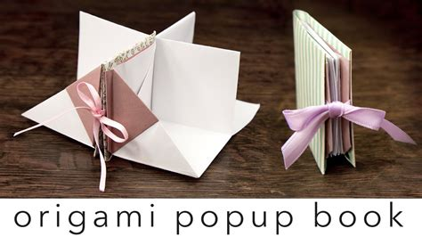 How To Make A Paper Origami Book - origami popup book tutorial diy crafts