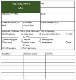 safety analysis template safety analysis templates 4 free forms for word and pdf