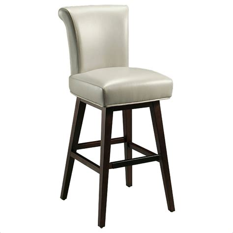 Grey Leather Bar Stool Pastel Furniture 26 Quot Counter Bar Stool In Light Gray Leather Qlha219345841
