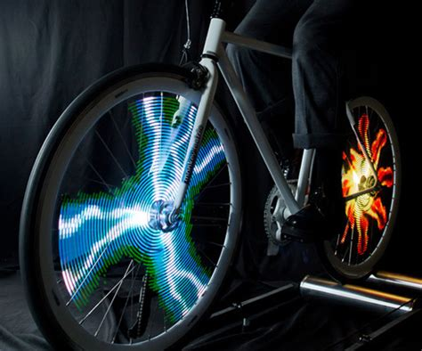 lights on wheels of a bicycle animated bike wheel lights dudeiwantthat com