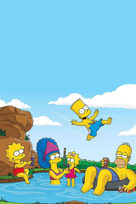 wallpaper iphone 5 simpsons freeios7 simpsons vacation parallax hd iphone ipad