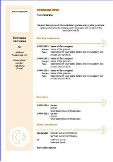 Sjabloon Europass Cv chronological cv template yellow circles resume templates