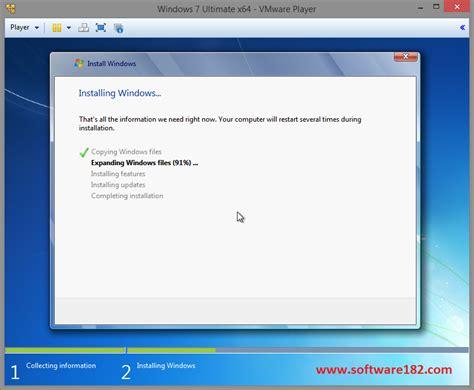 tutorial install windows 7 di vmware cara install windows 7 di vmware player dengan cepat