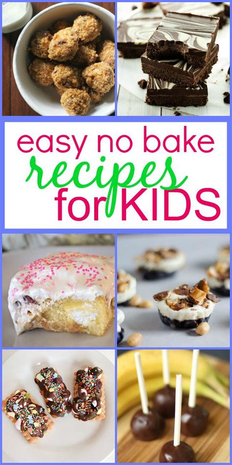 easy no bake recipes for kids oven kitchens and easy