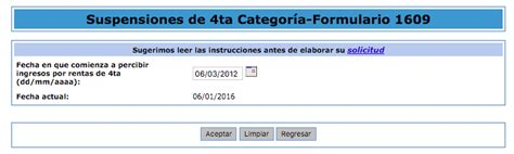 presentar suspension de cuarta categoria 2016 suspensi 243 n de 4ta categor 237 a 2016 caso pr 225 ctico