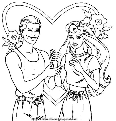 ken doll coloring page barbie coloring pages arts and crafts pinterest