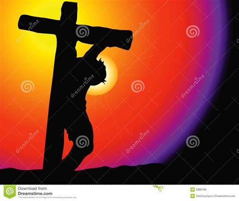 jesus on cross stock vector illustration of vector