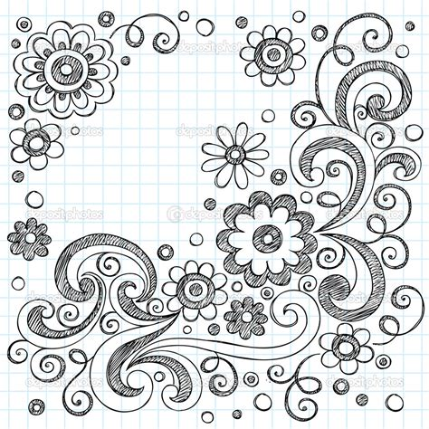 easy floral designs cool easy patterns to draw on paper www pixshark com