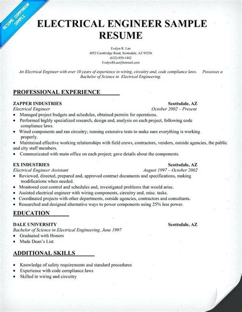 objective for electrical engineer resume fantastic sle engineering resume objectives