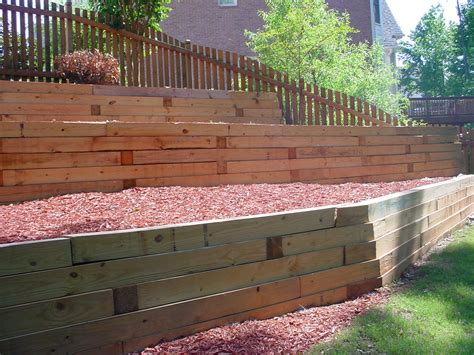 Retaining Walls Wood Aca Landscaping Wooden Garden Wall