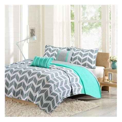 aqua and grey bedding modern grey and white chevron stripes with aqua accents