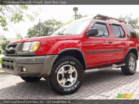 2000 aztec red nissan xterra se v6 4x4 34800477 gtcarlot com car color galleries aztec red 2000 nissan xterra se v6 4x4 sage interior gtcarlot com vehicle archive 67104588