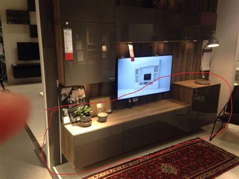 Besta Beton by Ikea Kast Besta Tv Meubel Ophangen Televisie In