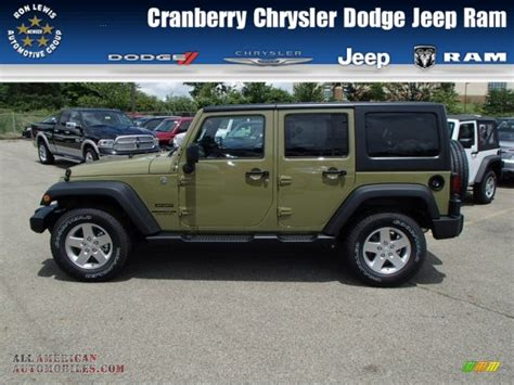 commando green jeep 2013 jeep wrangler unlimited sport s 4x4 in commando green