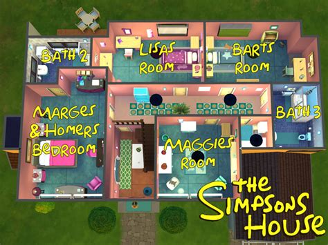 H House Plans by Lainchen S The Simpsons House